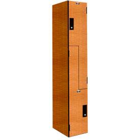 Hallowell PHL1282-ZA-K-FA VersaMax Phenolic Locker, 12x18x42, Z Tier, 1 Wide, Annigre, Key Cam Lock