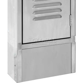 "Hallowell PPFB1806S Closed Front Base for Hallowell 304 Stainless Steel Lockers, 18""W x 6""H"