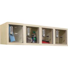 Hallowell UESVP1482 Safety-View Plus Locker w/DigiTech Locks - 12x12x12 - 4 Person - Assembled - Tan
