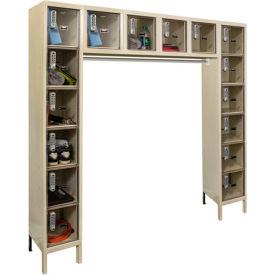 Hallowell UESVP1788 Safety-View Plus Locker w/DigiTech Lock 12x18x12 - 16 Person Unassembled - Tan