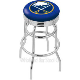 "Buffalo Sabres 25""H Double-Ring Swivel Bar Stool With Chrome Base L7C3C"
