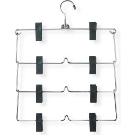 Four Tier Skirt/Pant Hanger, Chrome/Black, 2-Pack by