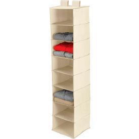 Merveilleux 8 Shelf Hanging Vertical Closet Organizer, Natural Canvas