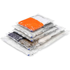 Combo Garment Vacuum Pack, Sizes: 1 Med Travel; 2 Med. Vac; 1 Large Vac; 1 X-Large Vac, 5 Pack by