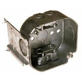 "Hubbell 157 Octagon Box 4"", 1-1/2""D,1/2"" Side Knockouts,Mc/Bx Clamps, Stud Bracket - Pkg Qty 50"