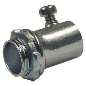 "Hubbell 2002 Emt Set Screw Connector 1/2"" Trade Size Steel - Pkg Qty 500"