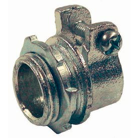 """Hubbell 2102 Squeeze Connector 1/2"""" Trade Size Flex - Pkg Qty 50"""