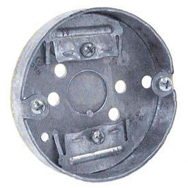 "Hubbell 287 Concrete Ring, 4"" Deep, 1/2""& 3/4"" Double Row Knockouts, For Ceiling Fan - Pkg Qty 50"