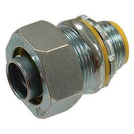 """Hubbell 3516 Straight Liquidtight Connector 1-1/2"""" Insulated - Pkg Qty 5"""