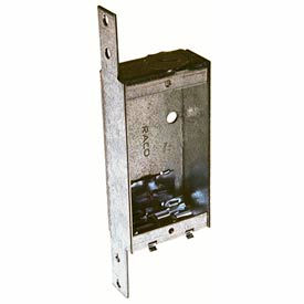 """Hubbell 404 Shallow Switch Box, 1""""D, 1/2"""" End Knockout, Nmsc Clamps, Stud Bracket - Pkg Qty 25"""
