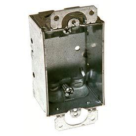 "Hubbell 410 Switch Box 3""X2"", 1-1/2"" Deep, Non-Gangable, Nmsc Clamps - Pkg Qty 50"