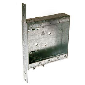 """Hubbell 418 Shallow 2 Device Switch Box, 1"""" Deep, Nmsc Clamps, Stud Bracket - Pkg Qty 25"""