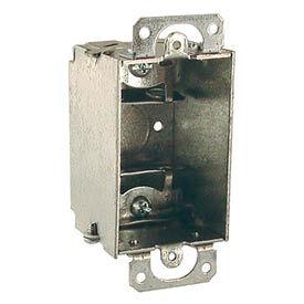 "Hubbell 440 Switch Box 3""X2"", 2"" Deep, Gangable, Mc/Bx Clamps, W/Plaster Ears - Pkg Qty 50"