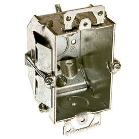 "Hubbell 487 Switch Box 3""X2"", 2-1/4""D, Gngable, Nmsc Clamps,Beveled Corners,Old Work Clip - Pkg Qty 20"