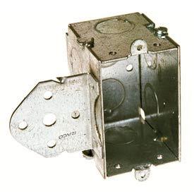 "Hubbell 502 Switch Box 3""X2"", 2-1/2"" Deep, Gangable, 1/2"" End Knockouts, Stud Bracket - Pkg Qty 10"