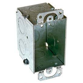 "Hubbell 503 Switch Box 3""X2"", 2-1/2"" Deep, Gangable, 3/4"" End Knockouts - Pkg Qty 50"