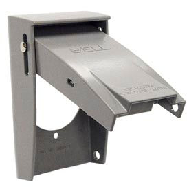 "Hubbell 5030-0 Rayntite Single Gang Weatherproof Cover 2.150"" Diameter - Pkg Qty 12"