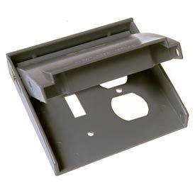 Hubbell 5042-0 Rayntite Two Gang Weatherproof Cover - (1) Toggle & (1) Duplex - Pkg Qty 6