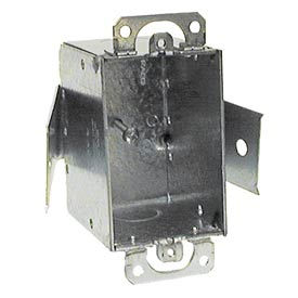 """Hubbell 508 Switch Box 3""""X2"""", 2-1/2"""" Deep, Non-Gngable, 1/2"""" End Knockout, Old Work Clips - Pkg Qty 20"""