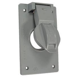 "Hubbell 5091-0 Weatherproof Single Gang Box Mount Cover 1.406"" Diameter - Pkg Qty 24"