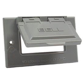 Hubbell 5101-0 Single Gang Weatherproof Cover - Horizontal Gfci Gray - Pkg Qty 24
