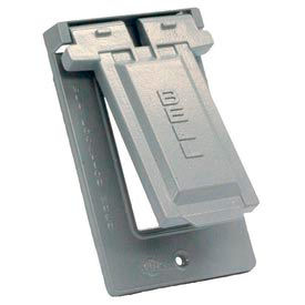 Hubbell 5103-0 Weatherproof Single Gang Vertical Device Mount Cover Gfci Gray - Pkg Qty 24