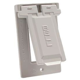 Hubbell 5103-1 Weatherproof Single Gang Vertical Device Mount Cover Gfci White - Pkg Qty 24