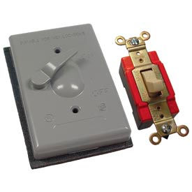 Hubbell 5128-0 Single Gang Weatherproof Switch Cover Sp - Pkg Qty 20