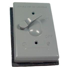 Hubbell 5137-0 Single Gang Weatherproof Switch Cover Dp - Pkg Qty 20