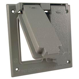 Hubbell 5145-0 Two Gang (2) Gfci Cover Box Mount - Pkg Qty 10