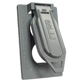 Hubbell 5146-0 Weatherproof Single Gang Vertical Device Mount Cover Duplex Gray - Pkg Qty 24