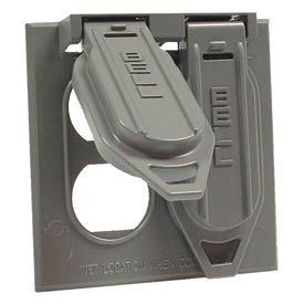 Hubbell 5148-0 Two Gang Weatherproof Device Mount Cover (2) Duplex - Pkg Qty 18