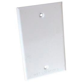 Hubbell 5173-1 Weatherproof Single Gang Device Mount Cover Blank White - Pkg Qty 50