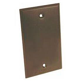 Hubbell 5173-2 Weatherproof Single Gang Device Mount Cover Blank Bronze - Pkg Qty 50