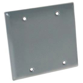 Hubbell 5175-0 Two Gang Weatherproof Device Mount Cover Blank Gray - Pkg Qty 25
