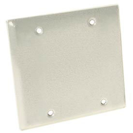 Hubbell 5175-1 Two Gang Weatherproof Device Mount Cover Blank White - Pkg Qty 25
