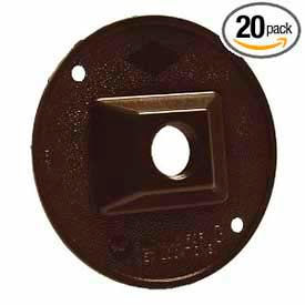 """Hubbell 5193-2 Weatherproof Cover 4"""" Round Cluster, 1 Hole, Bronze - Pkg Qty 20"""