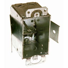 """Hubbell 526 Switch Box 3""""X2"""", 2-1/2"""" Deep, Non-Gangable, Mc/Bx Clamps, Old Work Clip - Pkg Qty 20"""