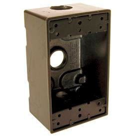 "Hubbell 5320-2 Single Gang Weatherproof Box 3-1/2"" Outlets, Bronze - Pkg Qty 20"