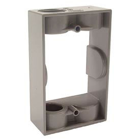 """Hubbell 5399-0 Single Gang Weatherproof Extension Adapter 2-1/2"""" Outlets Gray - Pkg Qty 20"""