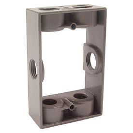 "Hubbell 5400-0 Single Gang Weatherproof Extension Adapter 6-1/2"" Outlets Gray - Pkg Qty 20"