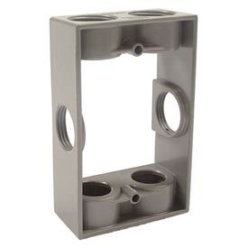 """Hubbell 5405-0 Single Gang Weatherproof Extension Adapter 6-3/4"""" Outlets Gray - Pkg Qty 20"""