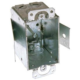 """Hubbell 545 Switch Box 3""""X2"""", 2-1/2"""" Deep, Non-Gangable, Nmsc Clamps, Old Work Clip - Pkg Qty 20"""