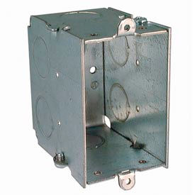 "Hubbell 561 Switch Box 3""X2"", 2-3/4"" Deep, Gangable, 1/2"" End Knockouts - Pkg Qty 50"
