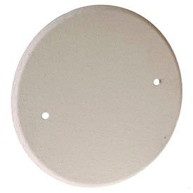 """Hubbell 5653-1 5""""Round Ceiling Closure Plate,(2)8-32 Screws - Pkg Qty 10"""