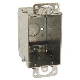 "Hubbell 567 Switch Box 3""X2"", 2-3/4"" Deep, Gangable, Nmsc Clamps, W/Plaster Ears - Pkg Qty 50"