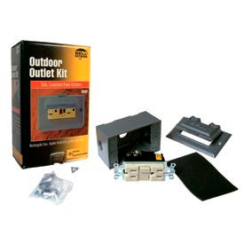 Hubbell 5874-5 Weatherproof Box, Cover And Gfci Receptacle Gray - Pkg Qty 4
