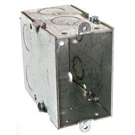 "Hubbell 592 Switch Box 3""X2"", 3-1/2"" Deep, Gangable, 1/2"" End Knockouts - Pkg Qty 50"