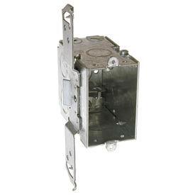 "Hubbell 604 Switch Box 3""X2"", 3-1/2""D, Gangable, Mc/Bx Clamps, Stud Bracket - Pkg Qty 25"