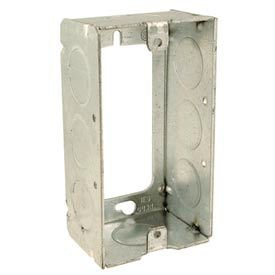 """Hubbell 653 Handy Box 4""""X2"""" Extension, 1-1/2"""" Deep, 1/2"""" End Knockouts, Welded - Pkg Qty 25"""